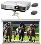 Large, Hall, system, -, Epson, HD, 5500, lumen, projector, 4.2m, wide, Electric, Screen, mount, and, converters,
