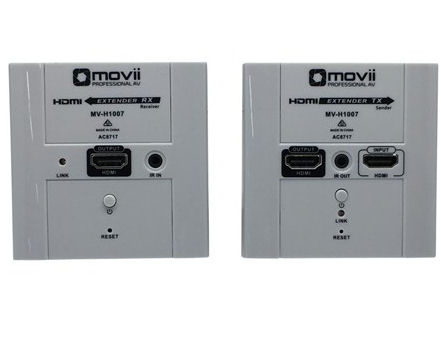 Movii, HDMI, 60m, Extender, -, Cat, 6, Wall, Plate,