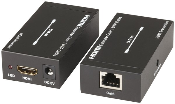 Digitech, HDMI, Over, 1, x, Cat5e/6, -, 50m, with, IR, Extender,