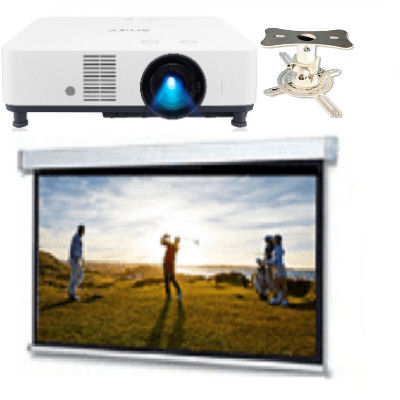Boardroom, System, 2, -, Sony, HD, 5000, lumen, Laser, 16:10, projector, mount, and, 3m, wide, Electric, Screen,