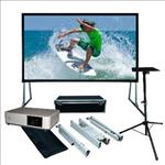 Sony, 5000, Lumen, Laser, Projector, plus, 4m, (186, ), Portable, Fast-Fold, Projector, Screen,