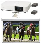 Small, Hall, Lamp, Free, system, -, Sony, 5000, lumen, Laser, WUXGA, projector, 3.5m, wide, SGAV, Electric, Screen, mount, and, converter,