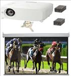 Small, Hall, system, -, Panasonic, WUXGA, 5000, lumen, projector, and, 3.6m, wide, SGAV, Electric, Screen, mount, and, converters,