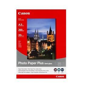 Canon, SG201A3, Photo, Paper, Plus, Semi-Gloss, A3, 20, Pk, 260GSM,