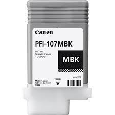 Canon, PFI-107MBK, MATT, BLACK, INK, 130ML,