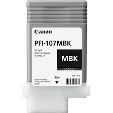 Canon, PFI-107MBK, MATT, BLACK, INK, 130ML,