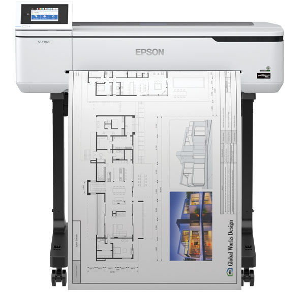 Large Format - A1/Epson: Epson, SureColor, T3160, A1, 24, Inch, 4, ink, Printer, with, Stand, plus, Bonus,