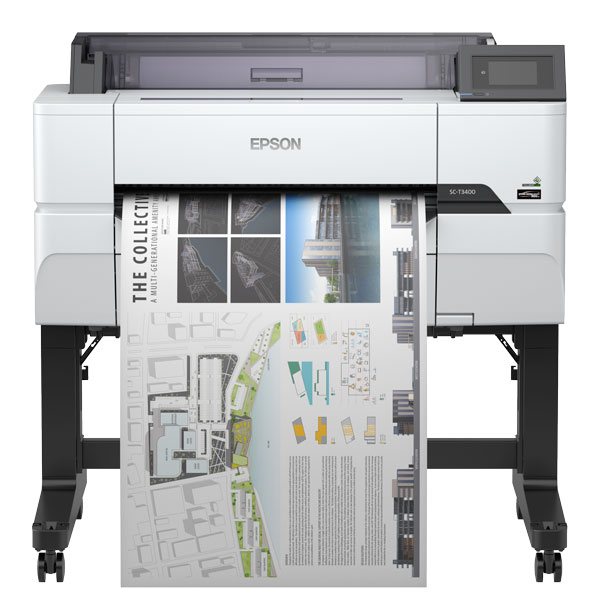 Large Format - A1/Epson: Epson, SureColor, T3460, A1, 24, Inch, 4, Ink, Printer, with, Stand, plus, Bonus,