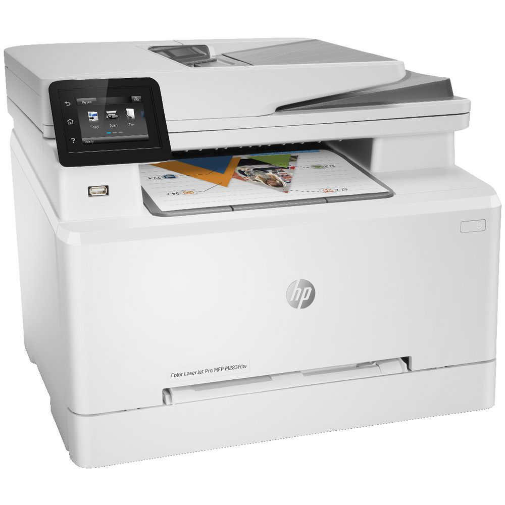 HP, Colour, A4, Laserjet, Pro, 21ppm, M283FDW, MFP, Printer,
