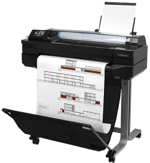HP, Designjet, T520, 24-in, WiFi, 4-Ink, Printer, BONUS, Paper, Ink,