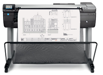 HP, Designjet, T730, 36, A0, 4-Colour, CAD, Printer, plus, BONUS,