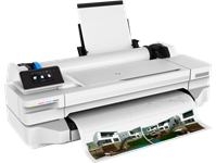 HP, Designjet, T130, 24-in, 610mm, 4, Ink, WiFi, ePrinter, plus, INK/PAPER,