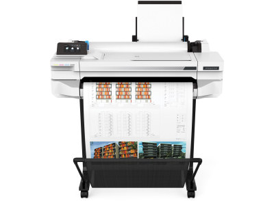 HP, Designjet, T530, 24-in, WiFi, 4-Ink, Printer, BONUS, Paper, Ink,