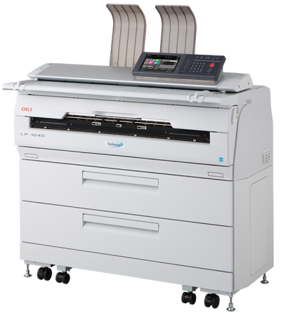 OKI, Teriostar, LP-1040-MF, A1, 7ppm, 2, roll, Wide, Format, Multifunction, Laser, Printer,