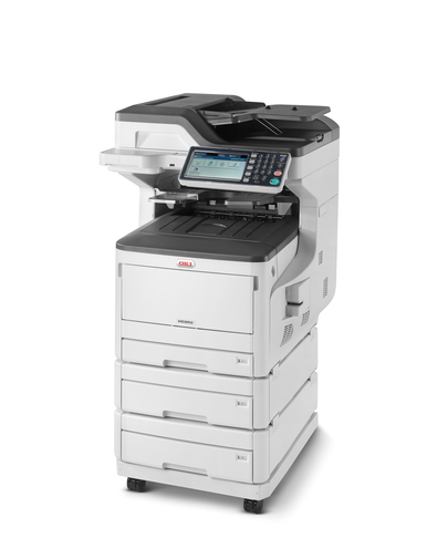 OKI, MC853dnx, A3, Colour, Laser, MFP, plus, 2, Trays, and, Caster, Base,