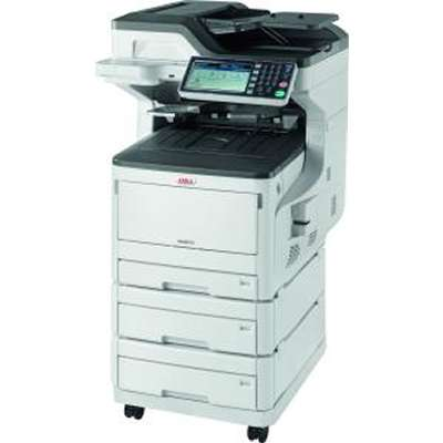 OKI, MC873dnx, MFP, A3, Colour, Laser, Printer, plus, 2, extra, trays, and, Castor, Base,