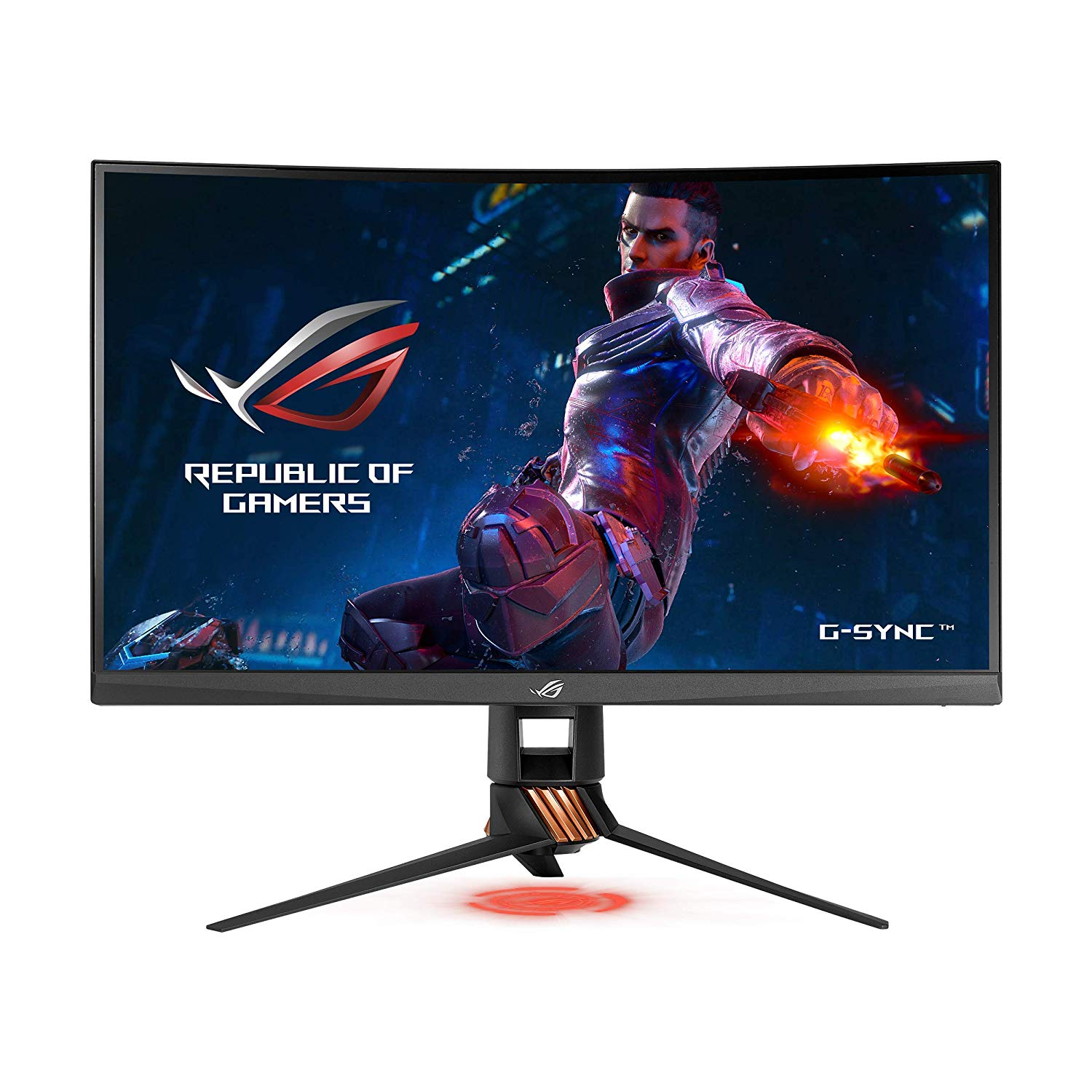 ASUS, ROG, Swift, PG27VQ, 27, Inch, WQHD, 165Hz, 1ms, Curved, G-Sync, Gaming, Monitor,