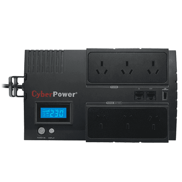 CyberPower, BRIC-LCD, 1200VA/720W, (10A), Line, Interactive, UPS, -, (BR1200ELCD)-2, Yrs, Adv., Replacement, incl.Int., Batteries,
