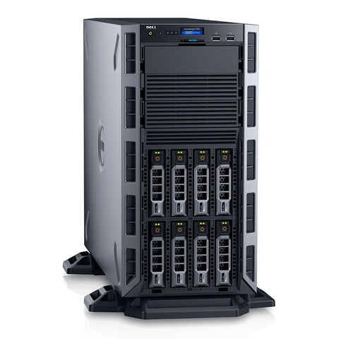 Dell, PowerEdge, T330, Tower, Server, E3-1225v6(1/1), 8GB, UDIMM(1/4), 1TB, SATA, 3.5(1/8), 495W(1/2), H330, 1Y, NBD,