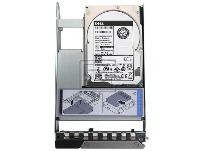 Dell, 2.4TB, 10K, RPM, SAS, 12Gbps, 512e, 2.5in, Hot-,