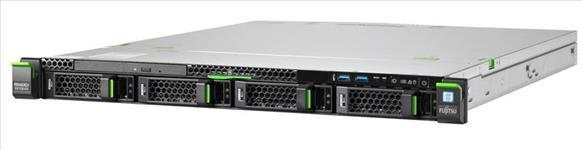 "Fujitsu, RX1330M4, LFF, Red, PSU, Xeon, E2134, 4C, 16GB, RAM, SAS/SATA, 3.5"", (0/4), RMK, IRMC, 450W,"