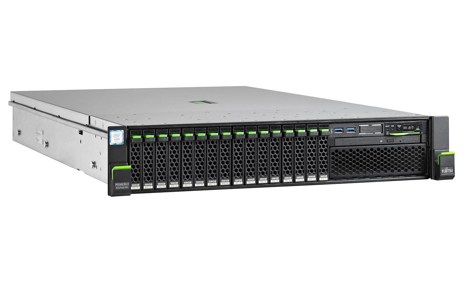 "Fujitsu, RX2540, M4, Xeon, Silver, 4110, (1/2), 16GB, DDR4-2666, R, ECC, (1/24), SSD/SAS/SATA, 2.5"", (0/24), EP540i, IRMC, 800,"