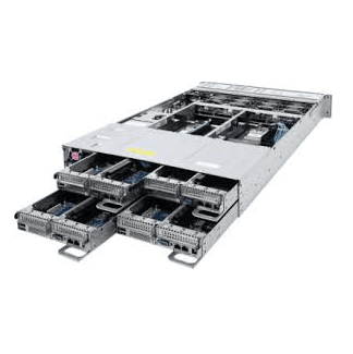 H262-Z63, 4, node, Rack, Server, with, dual, 2200W, power., Each, node, has, dual, AMD, 64, core, 64GB, RAM, dual, NVME, support, dual, M15,