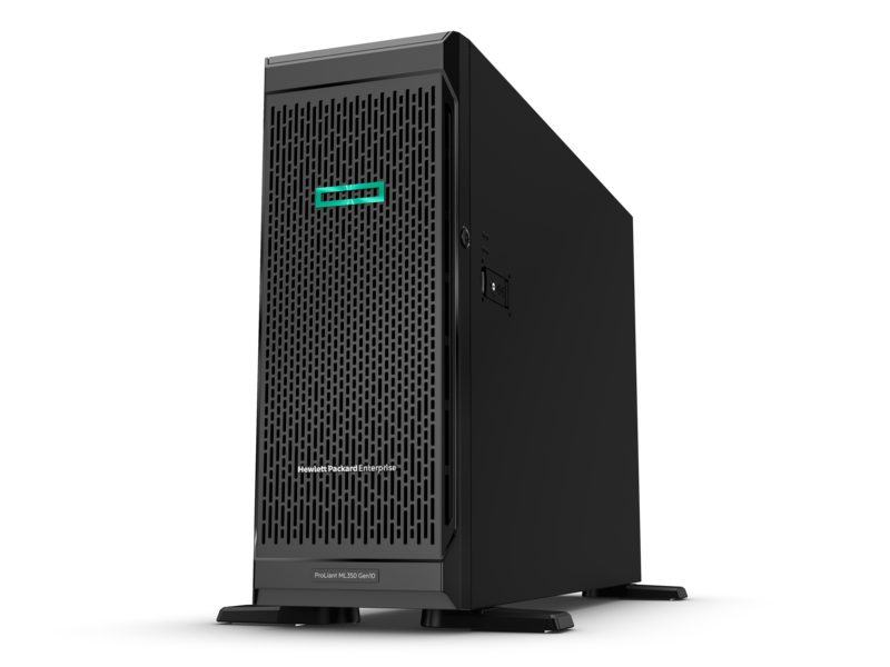 Tower/HP Enterprise: ML350, Gen10, 4210, 10, core, processor, 16GB, RAM, array, controller, and, 8SFF, bays,