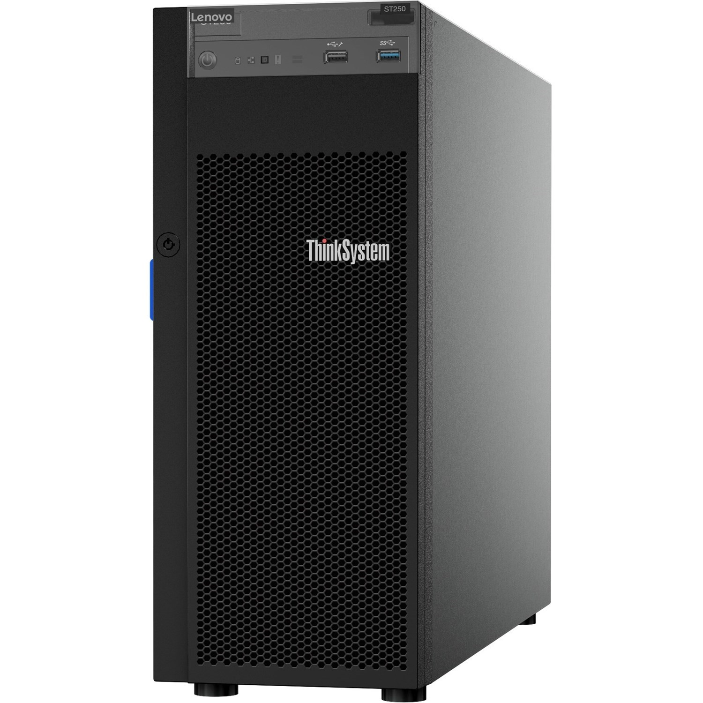 Lenovo, ST250, With, E-2144G, 4, core, CPU, 16GB, RAM, and, 4, LFF, bays,