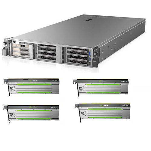Lenovo, SR670, High, Performance, Server, with, Dual, 6254, (36, cores, at, 3.1ghz), 256GB, RAM, 3, *800GB, SSD, dual, 2000W, and, 4, *, NV,