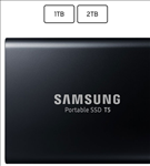 Samsung, T5, Portable, Solid, State, Drive, (SSD), 1TB/Up, to, 540MB/Sec, Transfer, speed/Rose, Gold/51g,