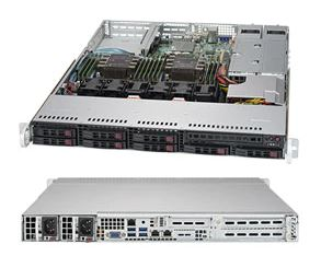 Supermicro, 1RU, SuperServer, 1029P-WTR, Barebone, Server, Dual, LGA3647, Socket, 8x3.5, HS, HDD, Bays,