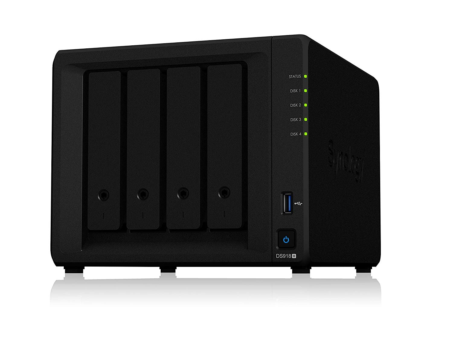 Synology, Ultima, Bundle, -, DS918+, x, 1, Network, Attached, Storage, +, Ironwolf, 6TB, HDDs, x, 4, +, Samsung, M.2, NVMe, 500GB, x, 2,