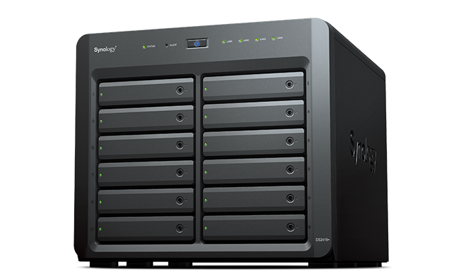 "Synology, DiskStation, DS2419+, 12-Bay, 3.5"", Diskless, Quad-core, 2.1GHz, 4xGbE, Network, Attached, Storage, (Scalable), (,"