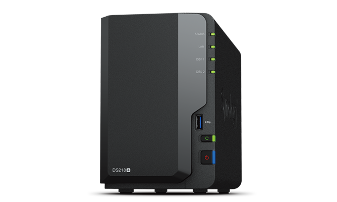 Synology, DS218+, Network, Attached, Storage, x, 1, +, Synology, Mesh, Router, MR2200ac, x, 1, -, Bundle, and, Save!,