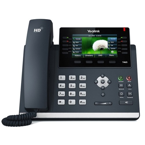Yealink, SIP-T46S, -, 16, Line, IP, phone, 4.3, 480x272, pixel, colour, display, with, backlight, Dual, Gigabit, Ports, 10, Program, ke,
