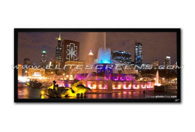Elite, Screens, 125, Fixed, Frame, 2.35:1, Projector, Screen, With, 4K, Acouctically, Transparent,