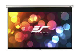 Elite, 135, (2.99m, wide), 16:9, Manual, Pull, down, Screen, with, White, Casing,