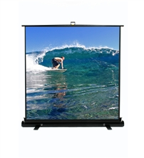Elite, 74, Portable, 16:9, Pull-Up, Projector, Screen, Floor, Pull, Up, Scissor, Back, Ezcinema,