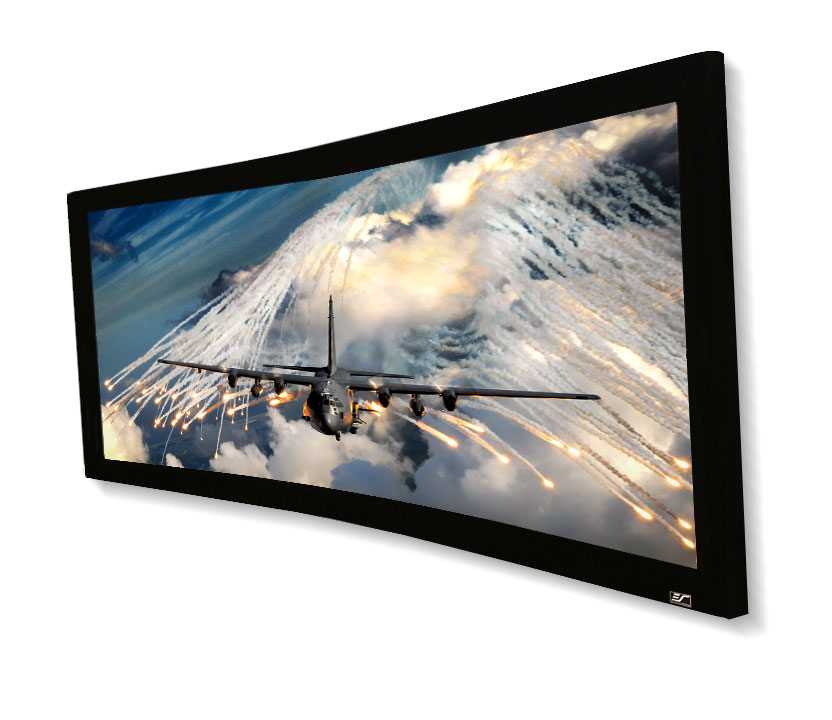 Elite, 125, Fixed, Frame, 2.35:1, 4K, Projector, Screen, Acoustically, Transparent, -, Lunette235,
