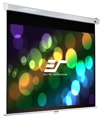 Elite, Screens, M113NWS1-SRM, 113, (2.03m, wide), Square, Manual, Pull, Down, Screen, with, WHITE, casing,