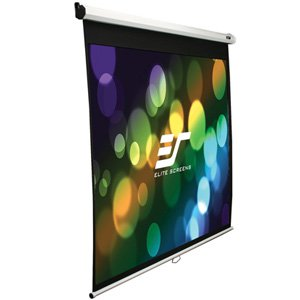 Elite, Screens, 94, (2m, wide), 16:10Manual, Pull, Down, Screen, with, WHITE, Case,
