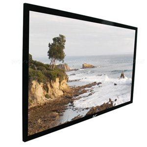 Elite, Screens, 120, FIXED, FRAME, 16:10, SABLE, FRAME, PROJECTOR, SCREEN, 6CM, BLACK, VELVET, BORDER,