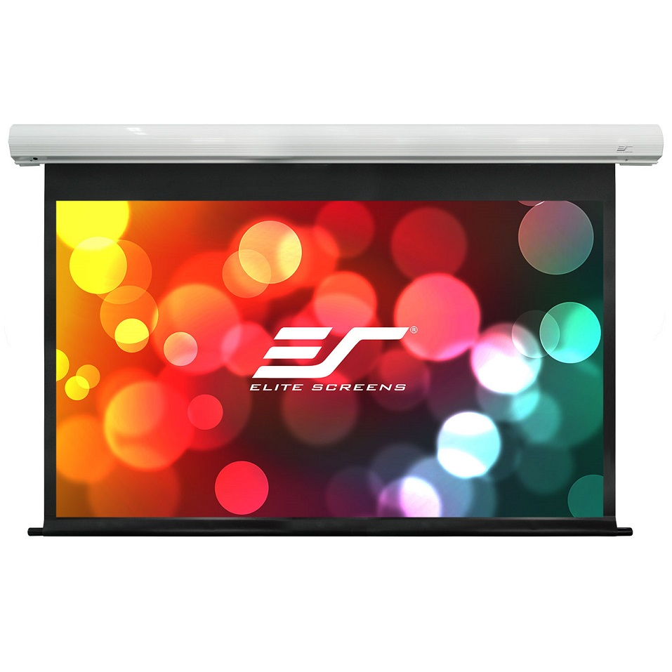 Elite, Screens, SK110XHW-E24, Saker, Series, 110, 16:9, with, 24, Drop, Electric, Motorized, Wall/Ceiling, Mount, Projector, Screen,