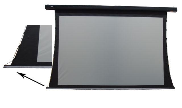 Optekneik, 100, 4:3, Rear, Projection, Tensioned, Motorised, Screen,