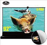 Vividstorm, CLR, UST, 92, 16:9, 2m, wide, Electric, Floor, Rising, Tension, Projector, Screen,