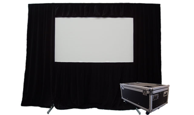 Optekneik, Easy, Fold, 16:9, 265x149cm, Front, and, Rear, with, Valance,