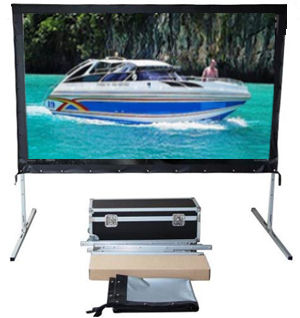 Front And Rear/SG Audio Visual: SGAV, FP, Series, 3m, wide, 135, 16:10, Portable, Fast-Fold, Screen, with, Dual, Surface,