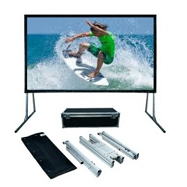 Front And Rear/Sg Audio Visual: SG, Audio, Visual, FF, Series, 4m, wide, (186, ), Portable, Fast-Fold, Projector, Screen, with, Front, and, Rear, Surfaces, (16:10),