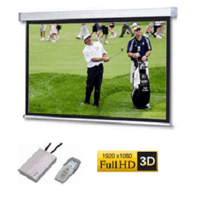 SG, Audio, Visual, A, Series, Electric, Screen, 126, 16:9, (2.8m, *, 1.58m), with, white, case, and, fiberglass, surface,